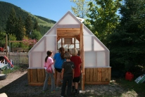 Clark Fork School educational greenhouse