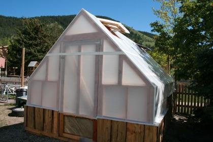 Clark Fork School educational greenhouse
